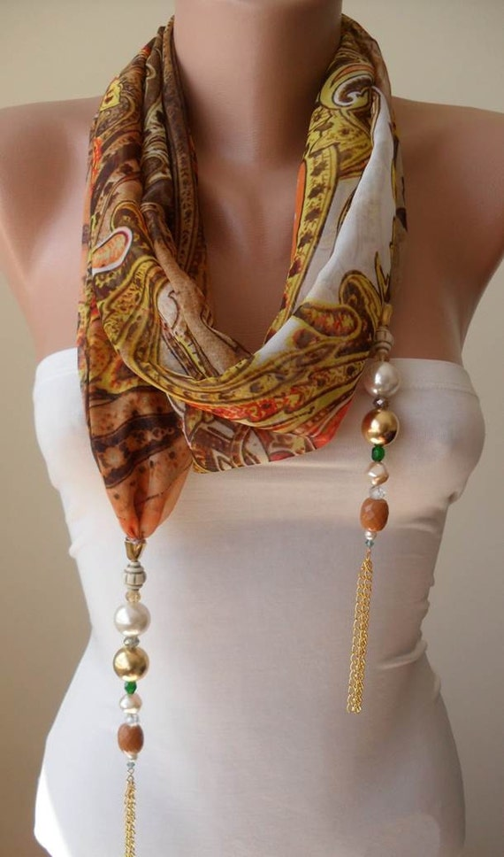 Infinity Scarf With Necklace