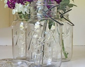 Three Ball Ideal Clear Quart Mason Jars