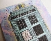 Limited Edition - The Tardis ACEO Print with Handpainted Watercolors