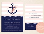 Rachel - Printable Cruise Line Inspired Anchor Wedding Invitation Design