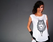 Small 'Lone Wolf 832F' Limited Edition cap-sleeved cotton t-shirt