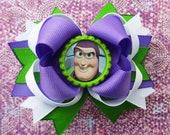 Buzz lighteryear hair bow Toy story hair bow disney hair bow headband over the top boutique hair bow
