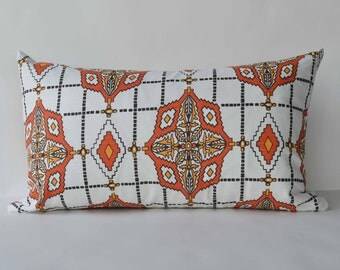 Decorative Pillow 12x20 clementine - black-  tribal pillow Accent Pillow Modern Throw Pillow cover