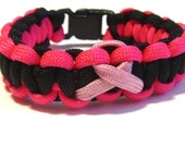 Breast Cancer Ribbon Paracord Bracelets