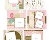 YOUR STORY -GIRLS Kit - Provocraft 8x8 Album with Premade scrapbook pages and embellishments