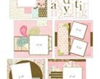 YOUR STORY -GIRLS Kit - Provocraft 8x8 Album with Premade scrapbook pages and embellishments - Rare !