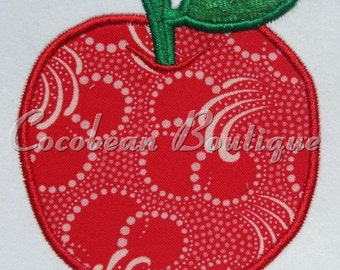 apple embroidery applique