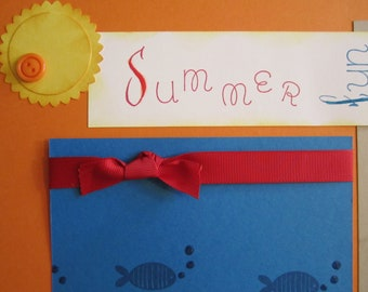Summer Fun 12 by 12 premade scrapbook pages