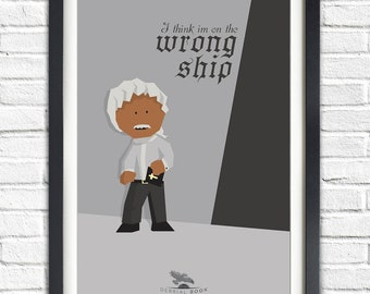 Firefly - Serenity - Derrial 'Shepherd' Book - Ron Glass - 19x13 Poster