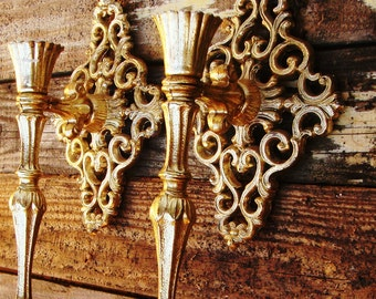 Vintage Copper Plated Wall Sconces