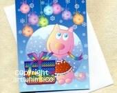 Cat card, Christmas, card set of 10, greeting card, Christmas decoration
