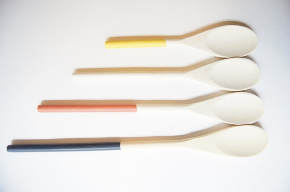 CLEARANCE 50% OFF - Wooden Spoons Set of 4: Retro, Fall Entertaining, Hostess gift