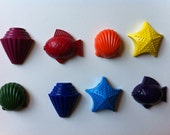 Set of 8 Eco-Friendly Sea Crayons