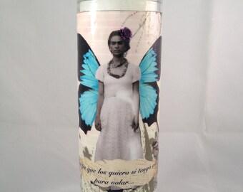 Collage Frida Kahlo Candle
