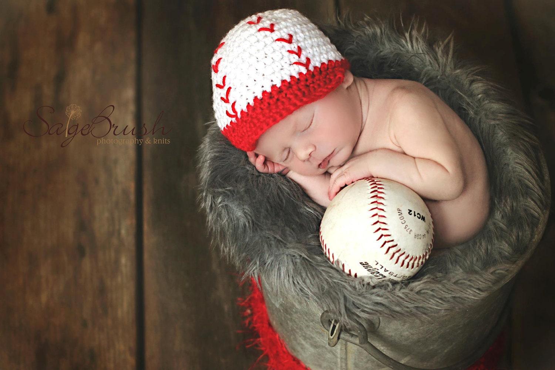 newborn crochet baseball hat newborn