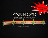 Fully customizable PINK FLOYD dark side of the moon. Any style you desire. Classic rock, indie, rock and roll. Diy upcycled reconstructed.