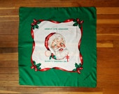Vintage Christmas Santa Claus face scarf