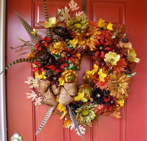 Old World Tuscan Large Autumn Wreath, Fall