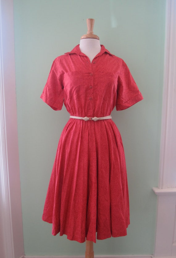 Vintage Red 50's Housewife Sundress