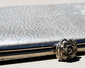 Sparkling Silver and Rose // Clutch Pouch / Evening / Sparkle / Valentine / Hor Her