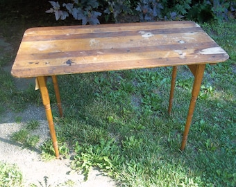 Antique Wooden Sewing Table W/Ruler