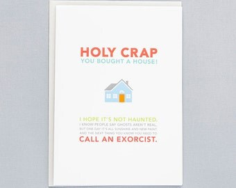 Hope It's Not Haunted New House Greeting Card