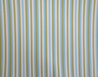 Outdoor Pillow Cover / Aqua Blue, Green and White Stripe Pillow Cover / Waterproof Pillow