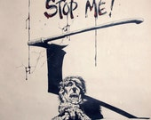 Somebody Please Stop Me. Gallery Show Poster from The Berni Wrightson Exhibit, 1977