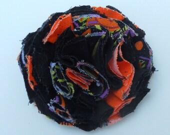 Fluffly Halloween Flower Hair Clip