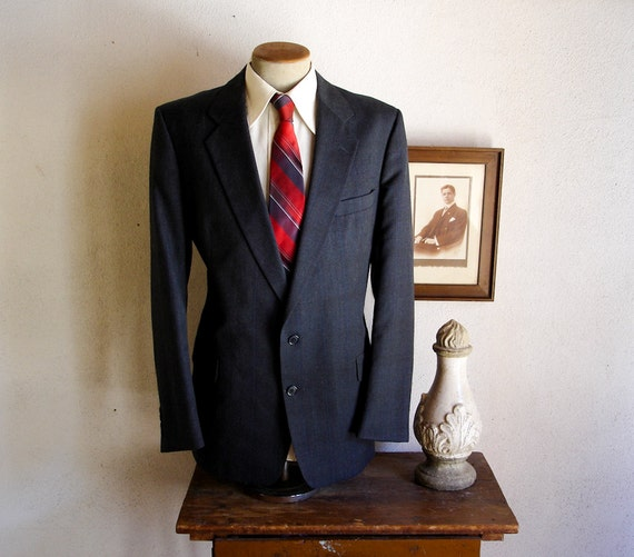 Vintage CHRISTIAN DIOR Mens Suit Jacket / Sport Coat / Blazer By Christian Dior Monsieur for The Jones Store Co. - Size 46 (XL)