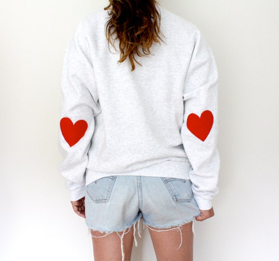Elbow Heart Patch Sweatshirt - Original Red