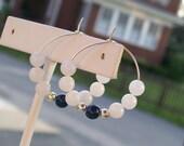 Penn State Colored Hoop Earrings