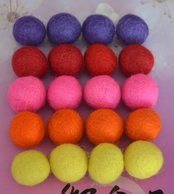 20pcs Playful Collection Wool Felt Balls (1cm)
