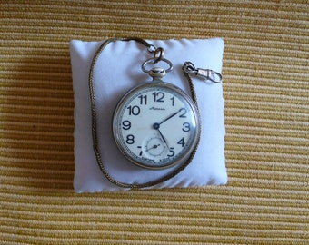 "Ussr ""Molnia""  pocket watches white dial rare 1960-1970 Perfect condition"