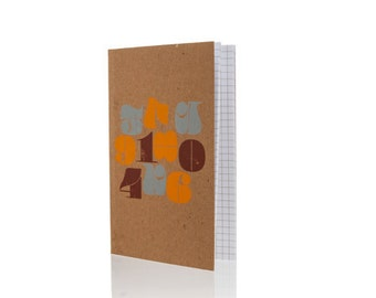 """Notebook - Numerals  5"""" x 8"""" on Graph Paper"""