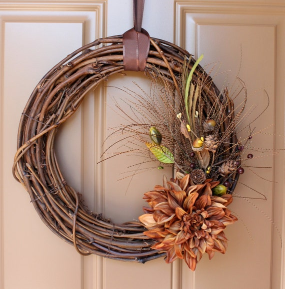 Rustic Autumn -Grapevine Fall Wreath