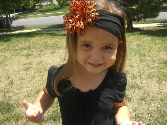 Halloween inspired Jersey knit headband
