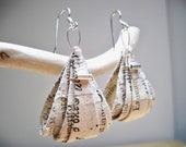 Ancient Recycled Paper Earrings & Silver Decoration