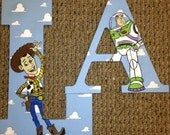 Toys Story hand painted wood letters