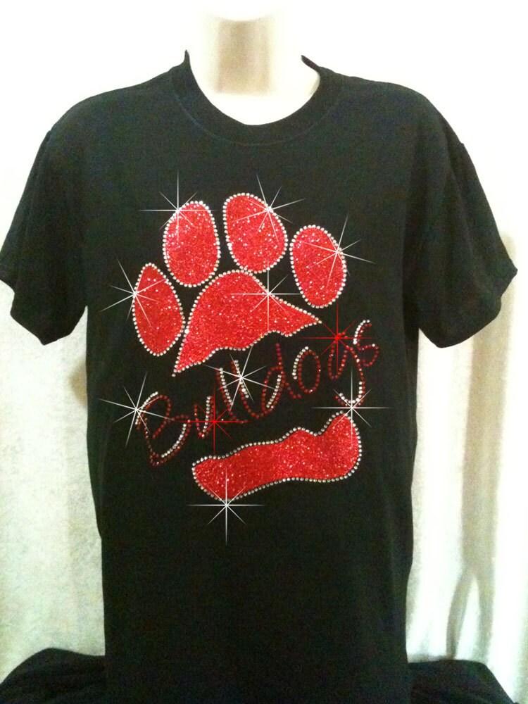 Womens Bulldog Rhinestone T Shirt By 1sharpfan On Etsy