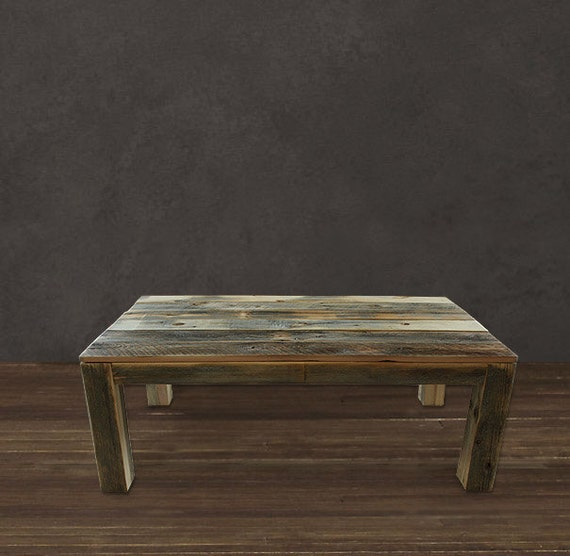 Reclaimed Wood Coffee Table Square Legged Parsons By Atlaswoodco