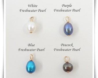 Add a Freshwater Pearl -  Freshwater Pearl Drops with Gold Filled Wire