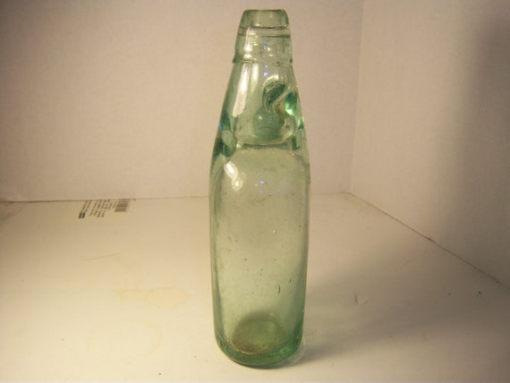 1890 S Aqua Codd Soda Bottle With Marble Stopper