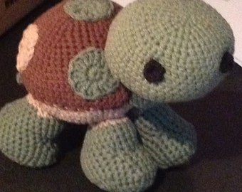 Crochet Turtle Stuffed Animal