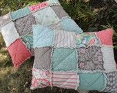 ADD ON a Rag Quilt Sham to your Quilt Order, Fabric to Match