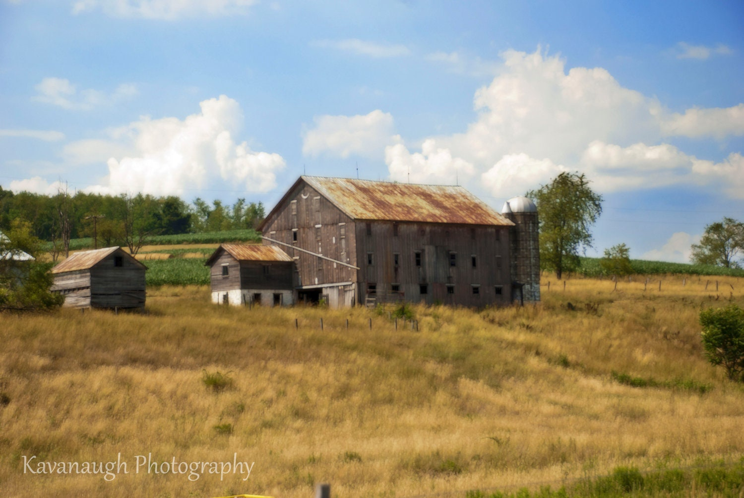 Old Farm House graph With Painting by Kavanaugh graphy