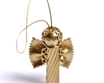 Set of 3 pasta angels, Christmas ornaments for Christmas decoration