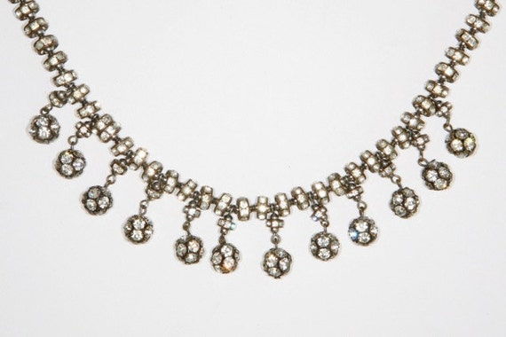 gorgeous vintage 1950's/60's rhinestone crystal dingle dangle classic hollywood necklace