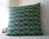 Bold Bright Blue Green Lantern Print Cushion Cover Amy Butler- Large