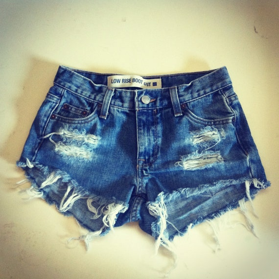 ON SALE Reworked high waisted denim shorts